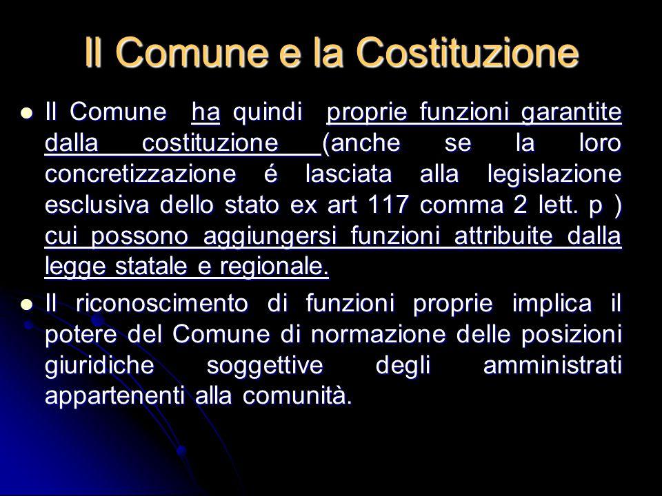 Il Comune e la Costituzione