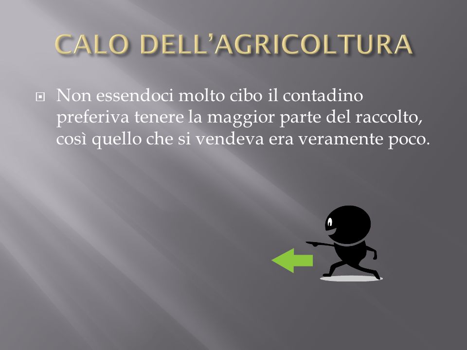 CALO DELL'AGRICOLTURA