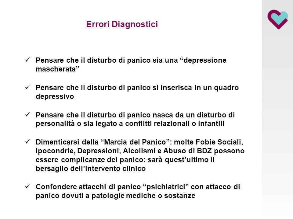 Errori Diagnostici Pensare che il disturbo di panico sia una depressione mascherata