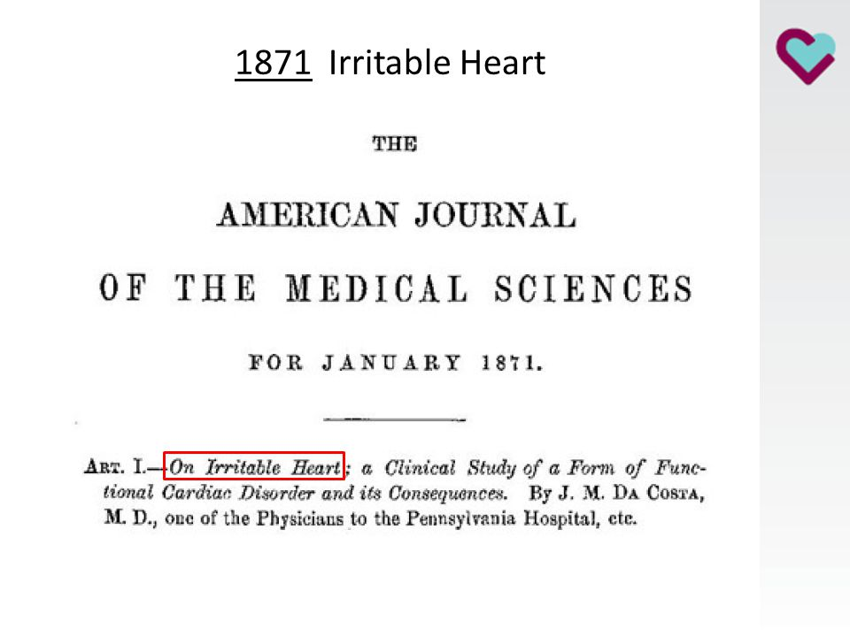 1871 Irritable Heart