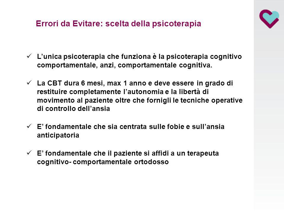 Errori da Evitare: scelta della psicoterapia
