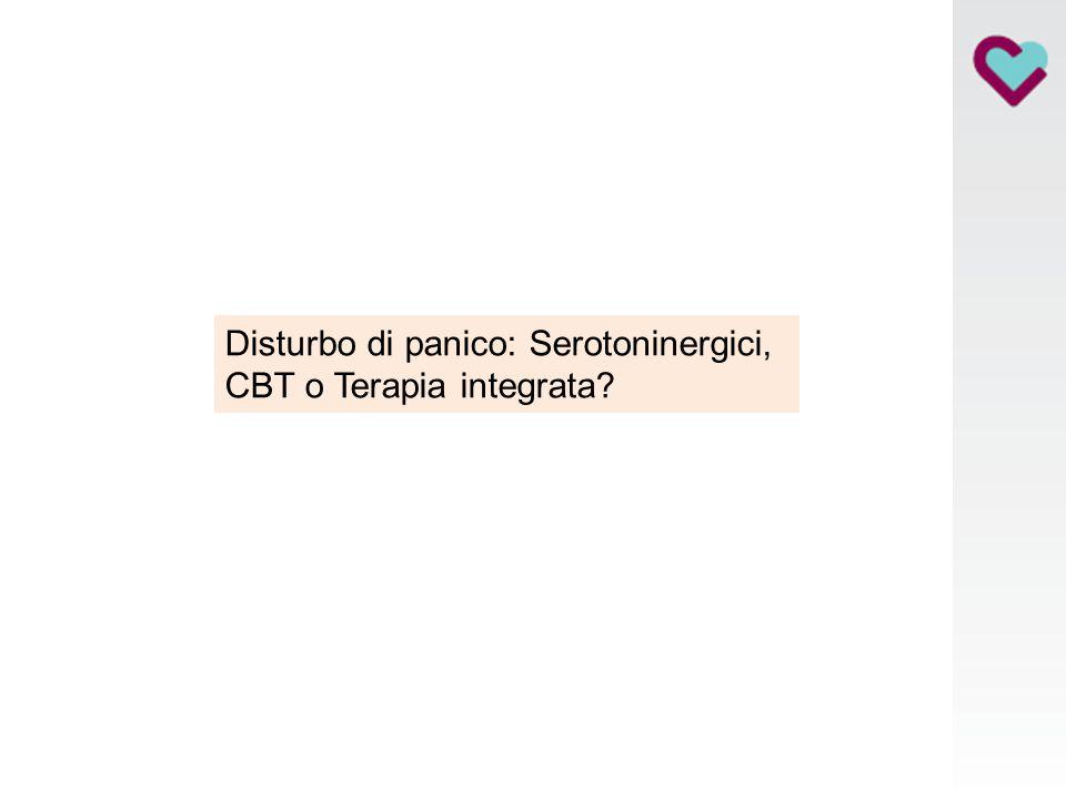 Disturbo di panico: Serotoninergici, CBT o Terapia integrata