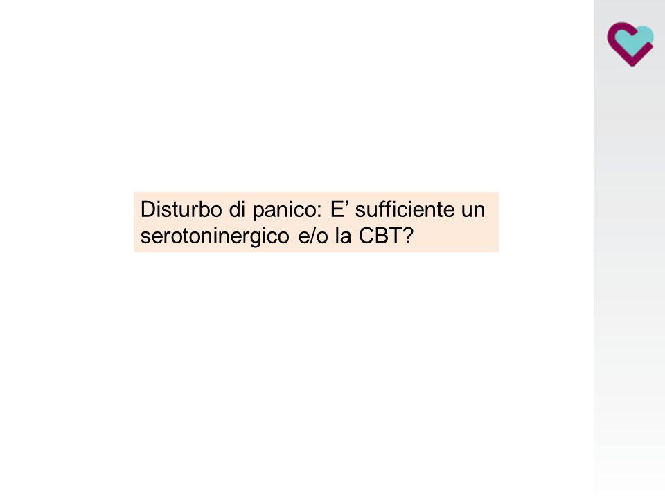 Disturbo di panico: E' sufficiente un serotoninergico e/o la CBT