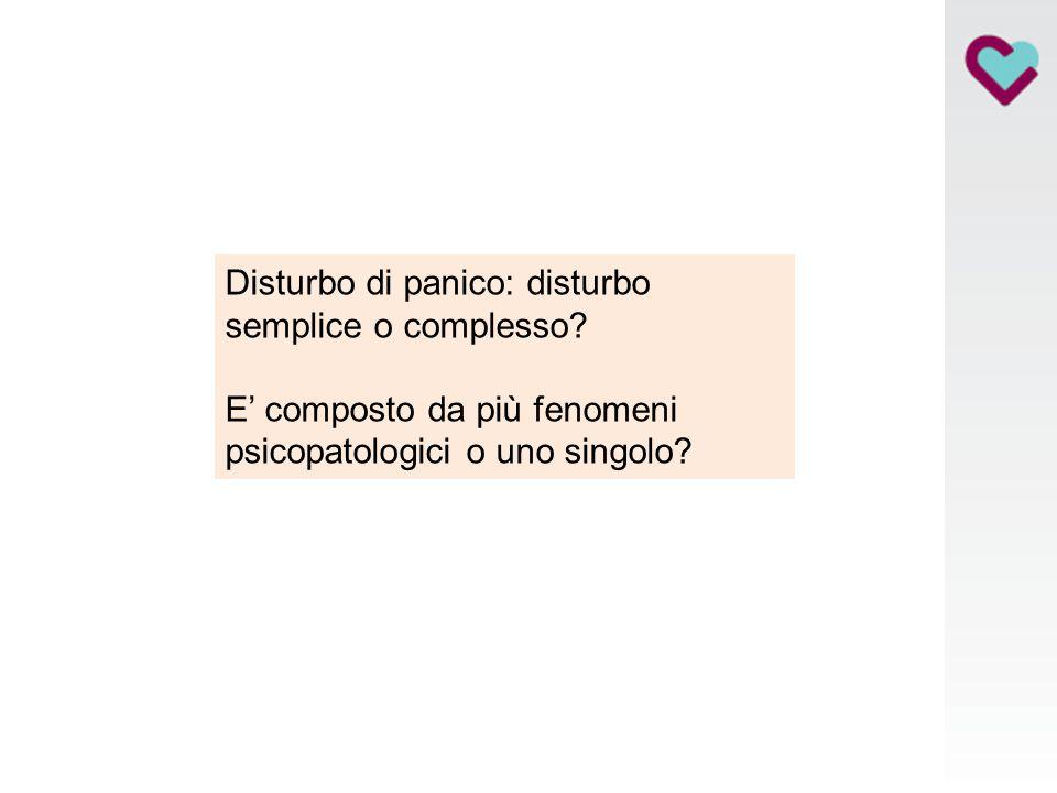 Disturbo di panico: disturbo semplice o complesso