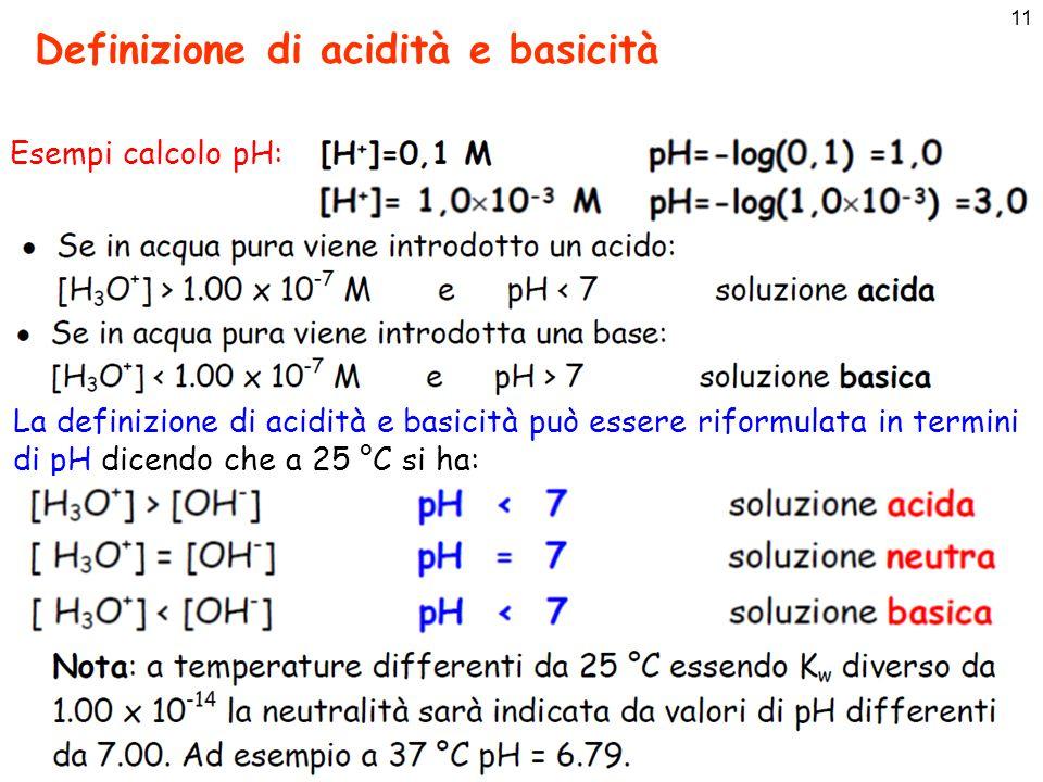 Definizione di acidità e basicità