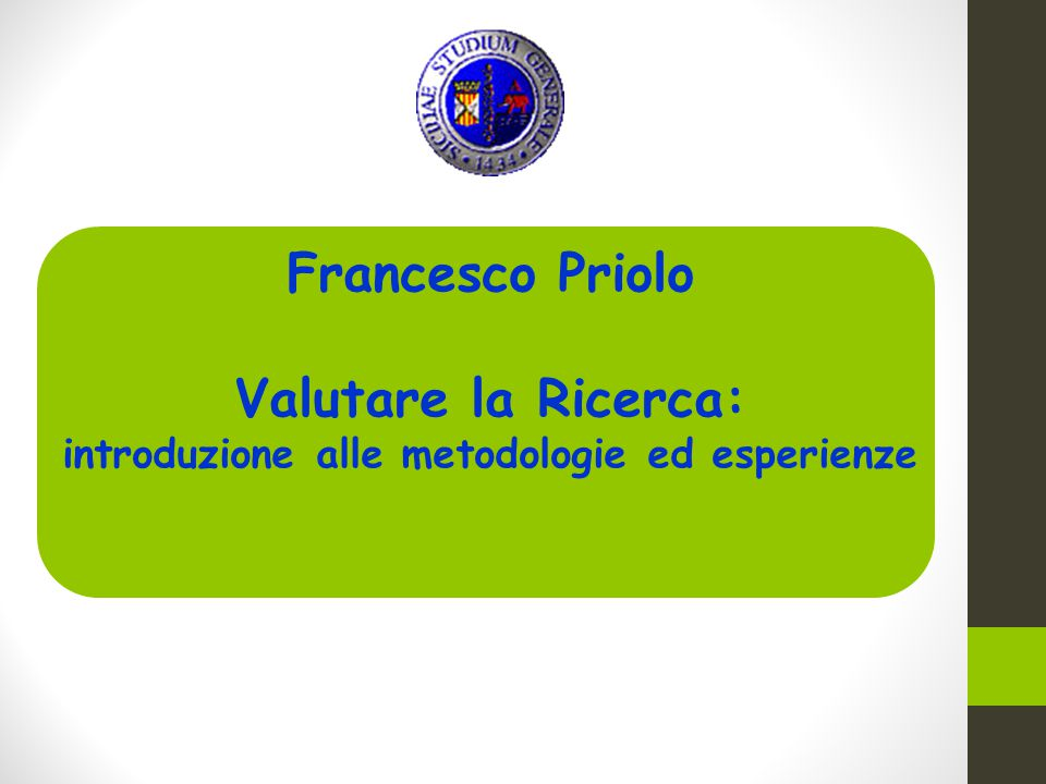 introduzione alle metodologie ed esperienze