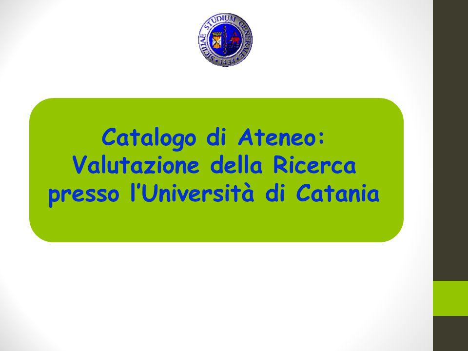 Valutazione della Ricerca presso l'Università di Catania