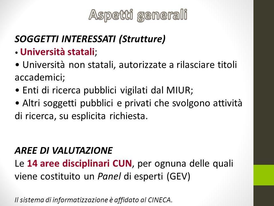 Aspetti generali SOGGETTI INTERESSATI (Strutture)