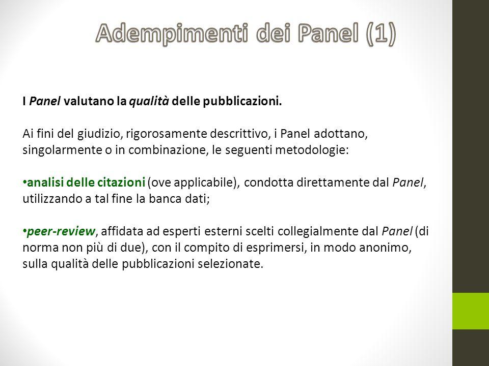 Adempimenti dei Panel (1)