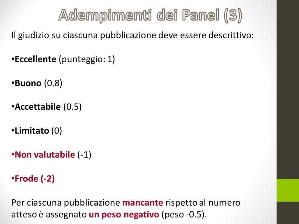 Adempimenti dei Panel (3)