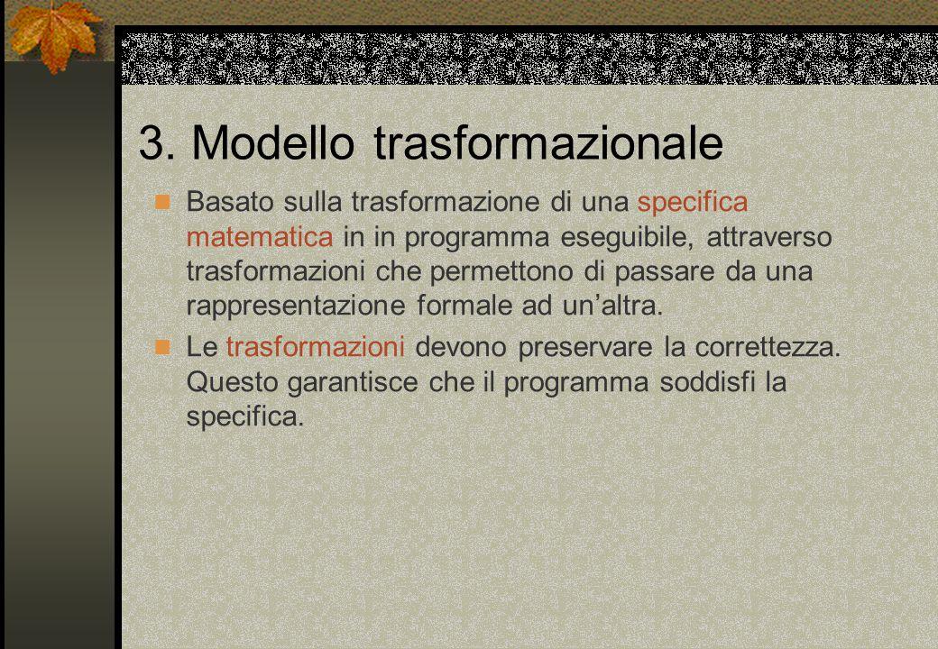 3. Modello trasformazionale