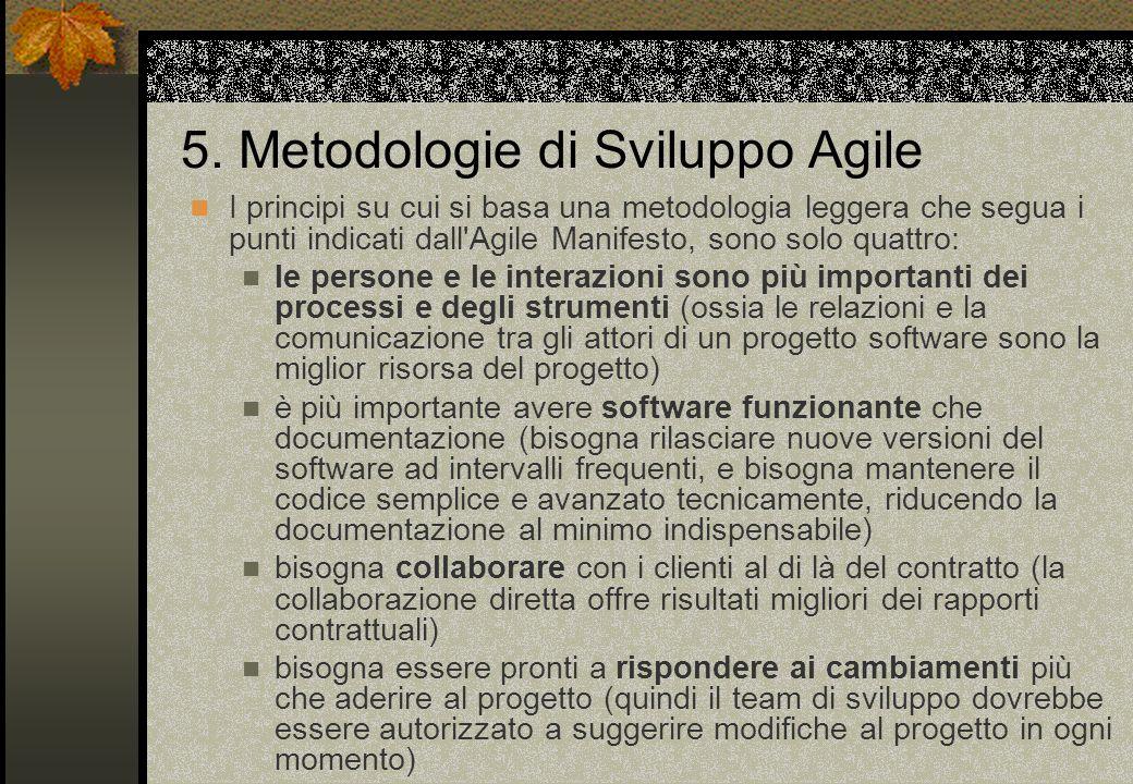 5. Metodologie di Sviluppo Agile