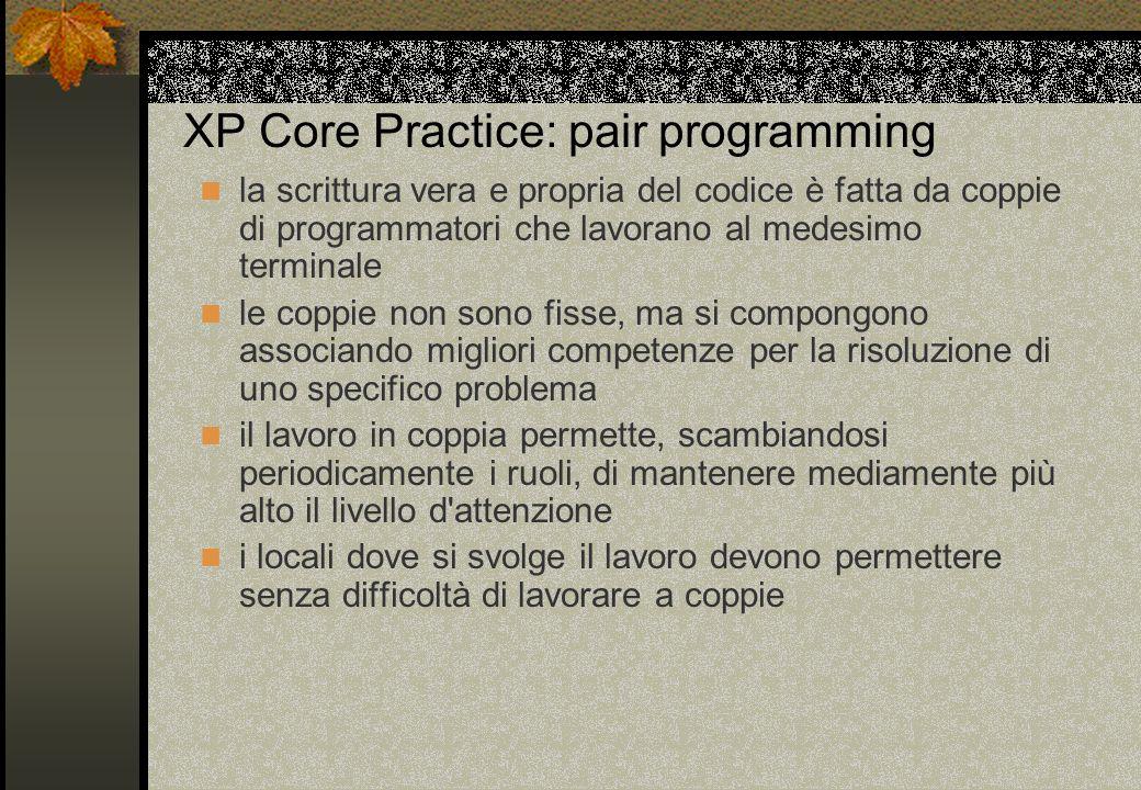 XP Core Practice: pair programming