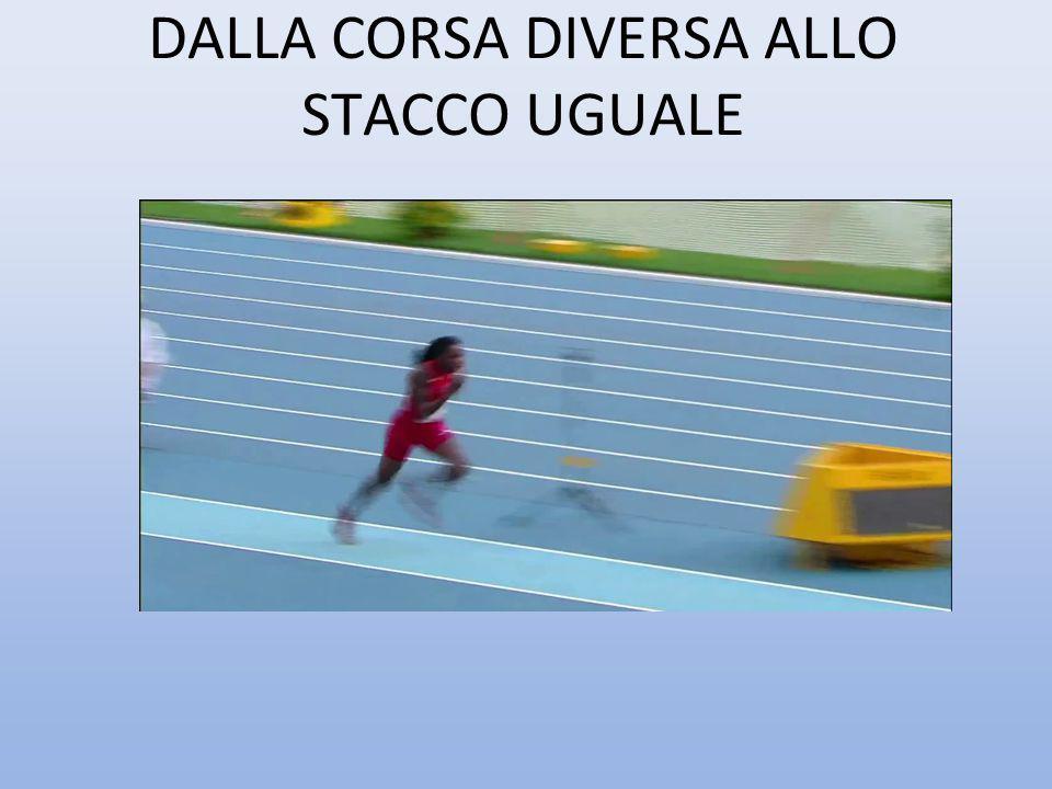 DALLA CORSA DIVERSA ALLO STACCO UGUALE