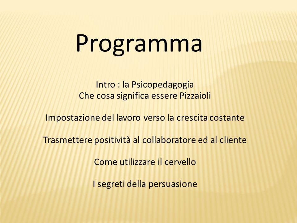 Programma Intro : la Psicopedagogia