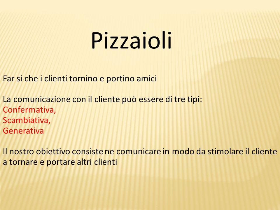 Pizzaioli Far si che i clienti tornino e portino amici