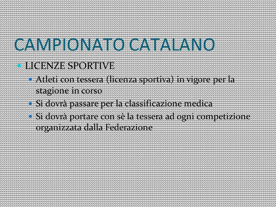 CAMPIONATO CATALANO LICENZE SPORTIVE