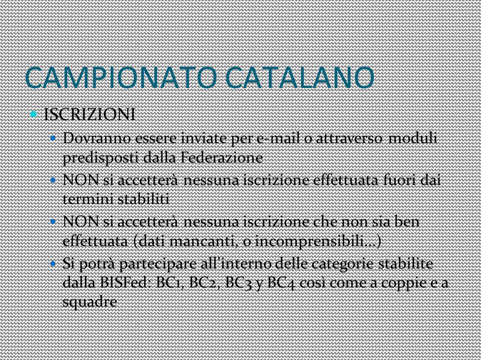 CAMPIONATO CATALANO ISCRIZIONI