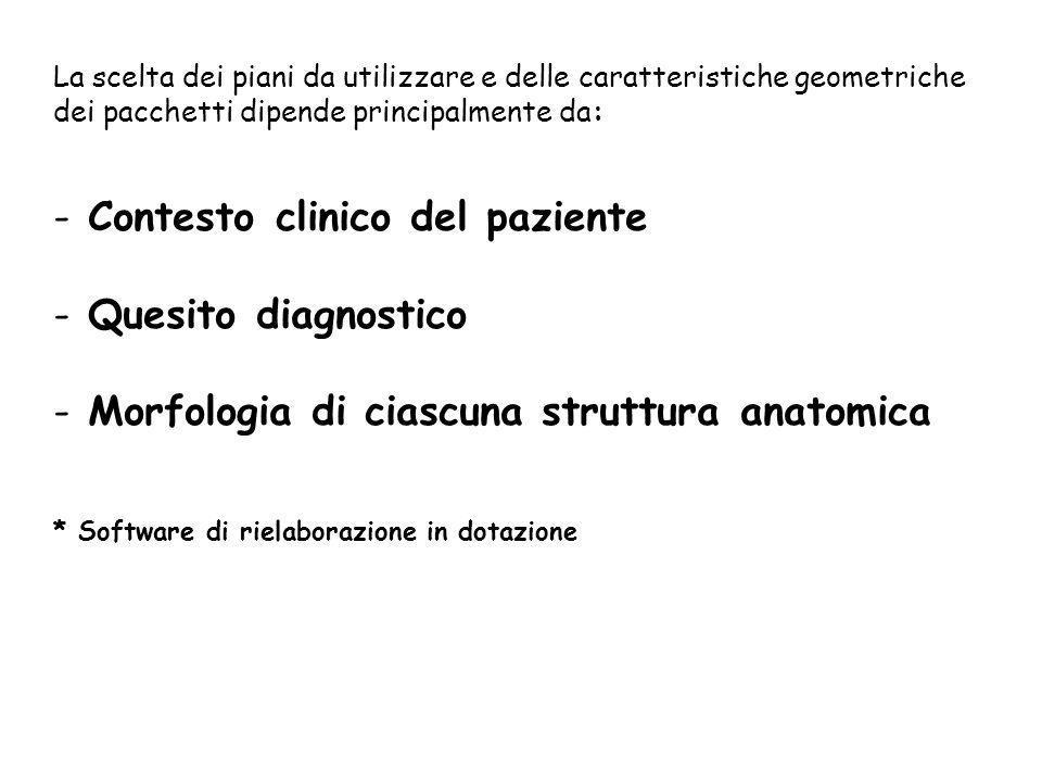 Contesto clinico del paziente Quesito diagnostico