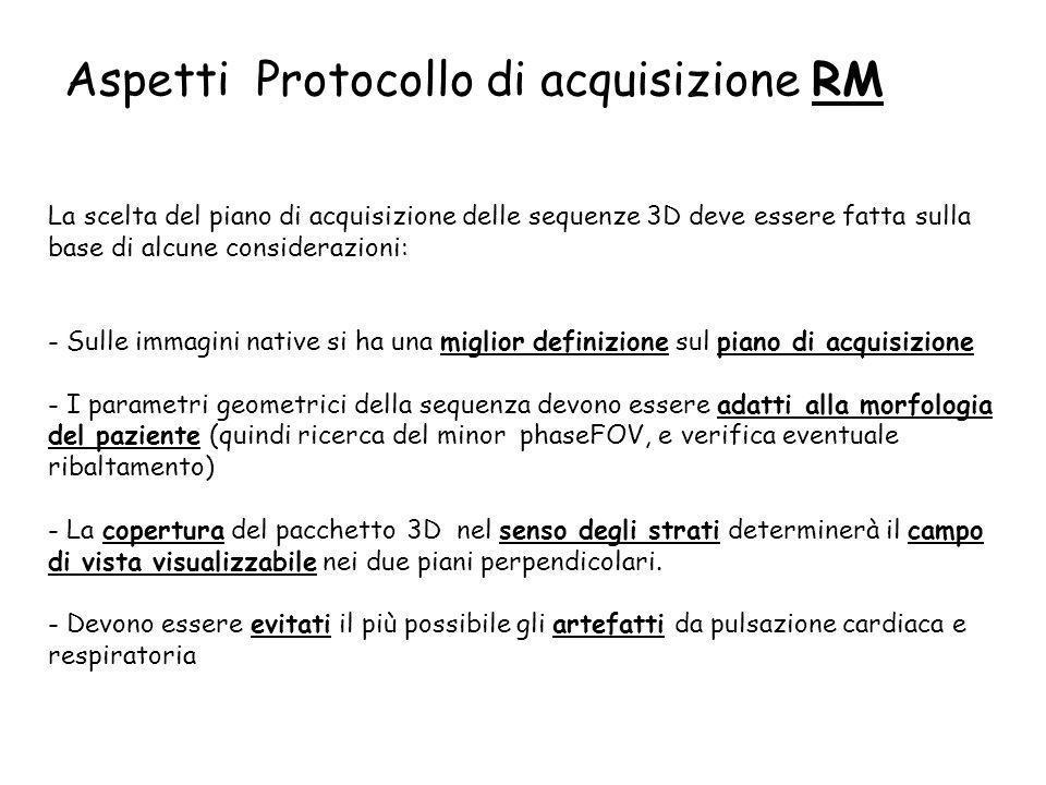 Aspetti Protocollo di acquisizione RM