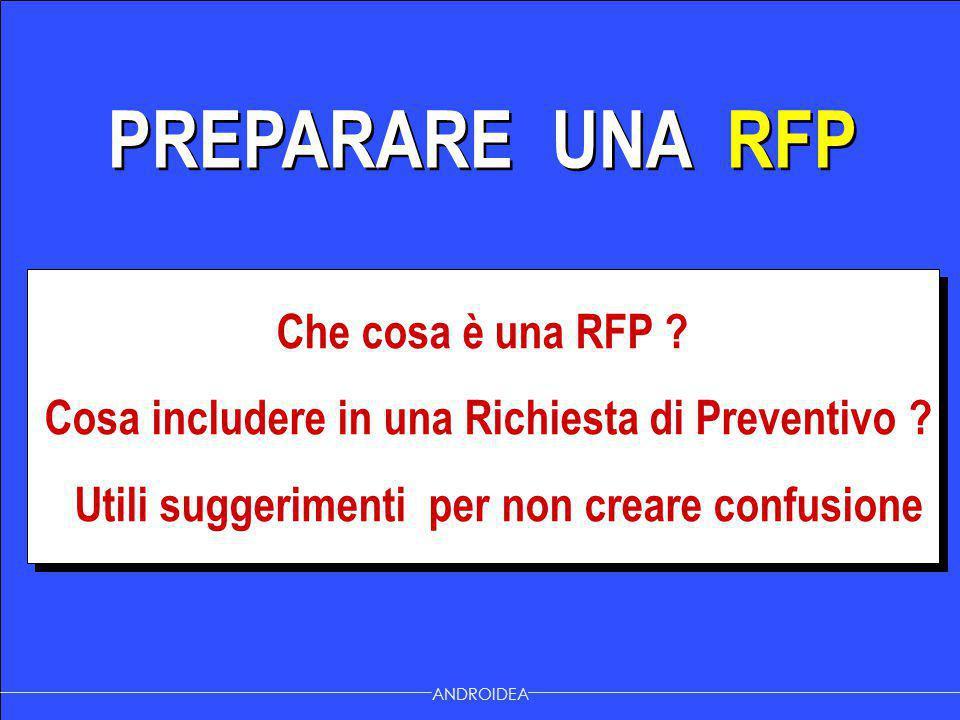 PREPARARE UNA RFP Che cosa è una RFP