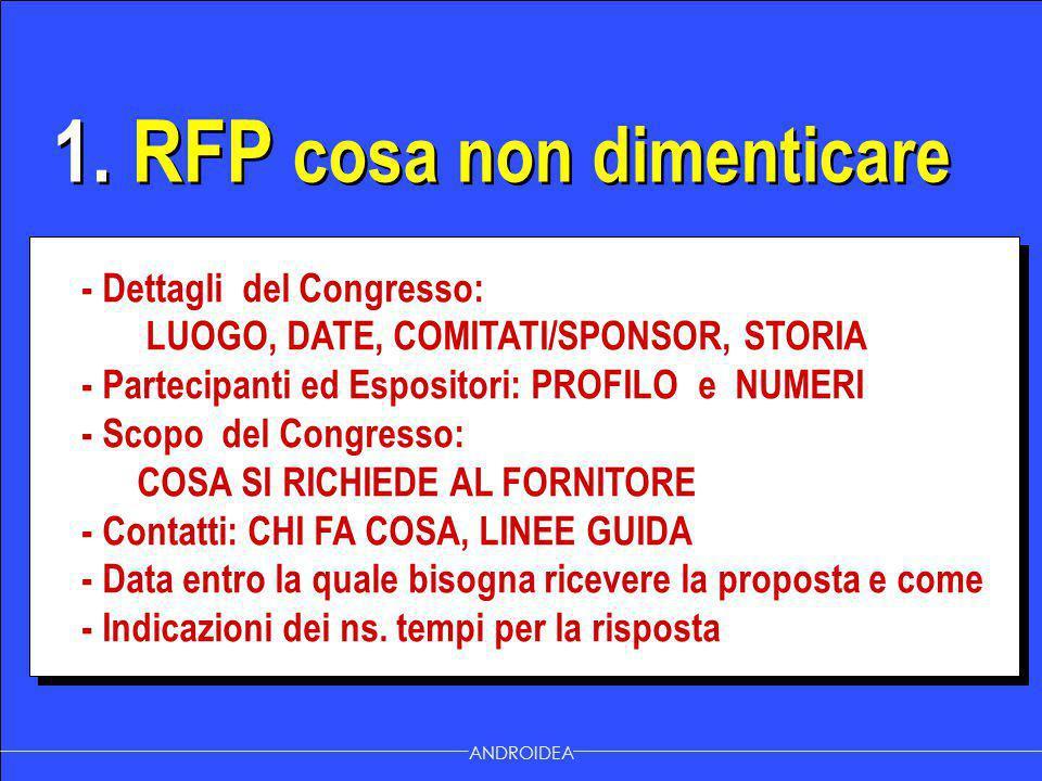 1. RFP cosa non dimenticare