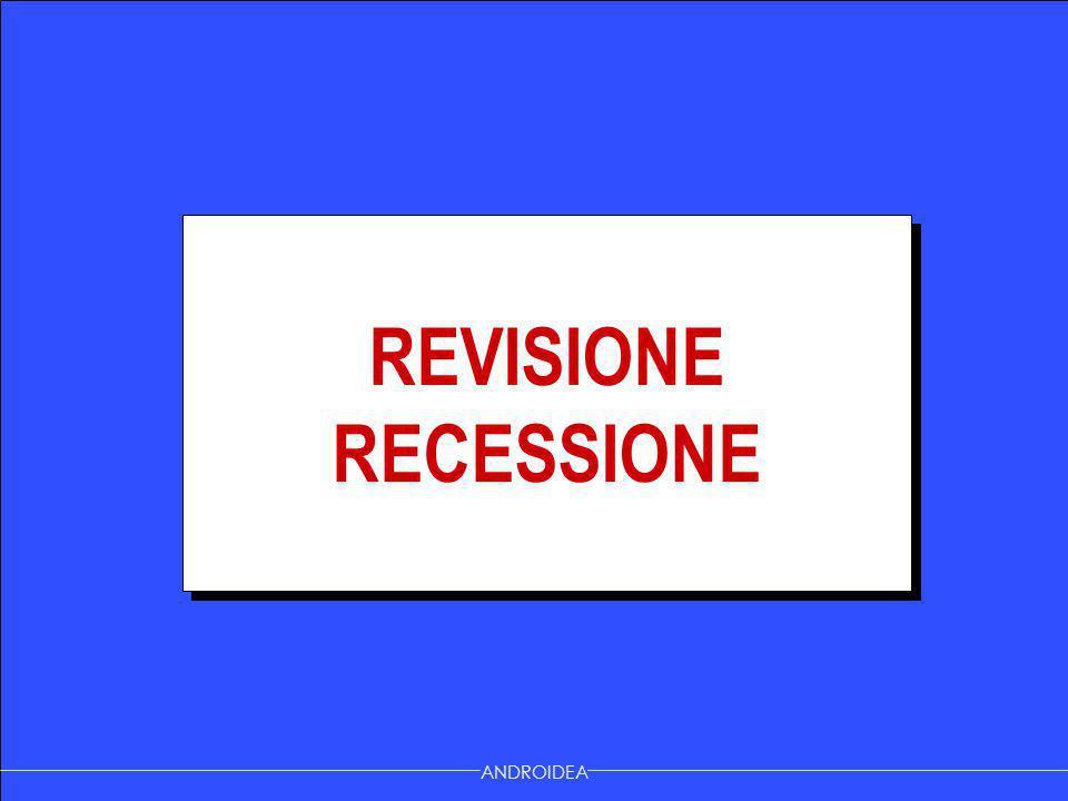 REVISIONE RECESSIONE ANDROIDEA