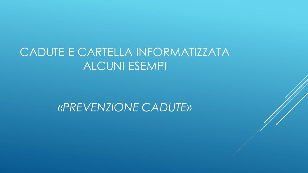 Cadute e cartella informatizzata alcuni esempi «Prevenzione cadute»