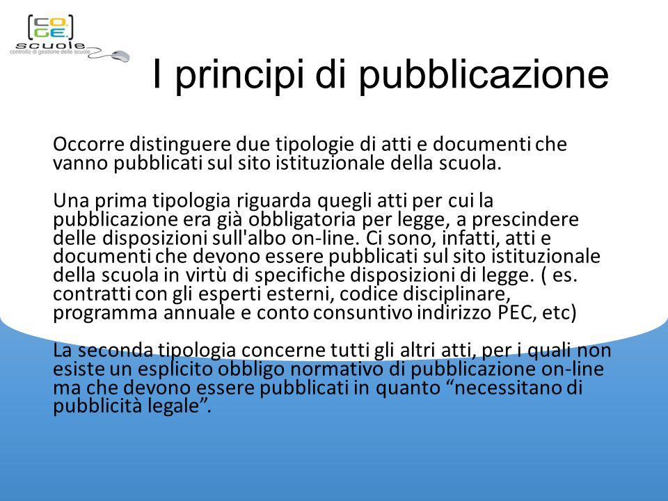 I principi di pubblicazione