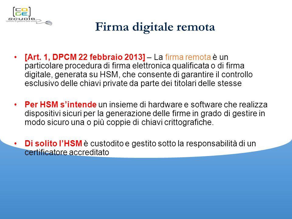 Firma digitale remota