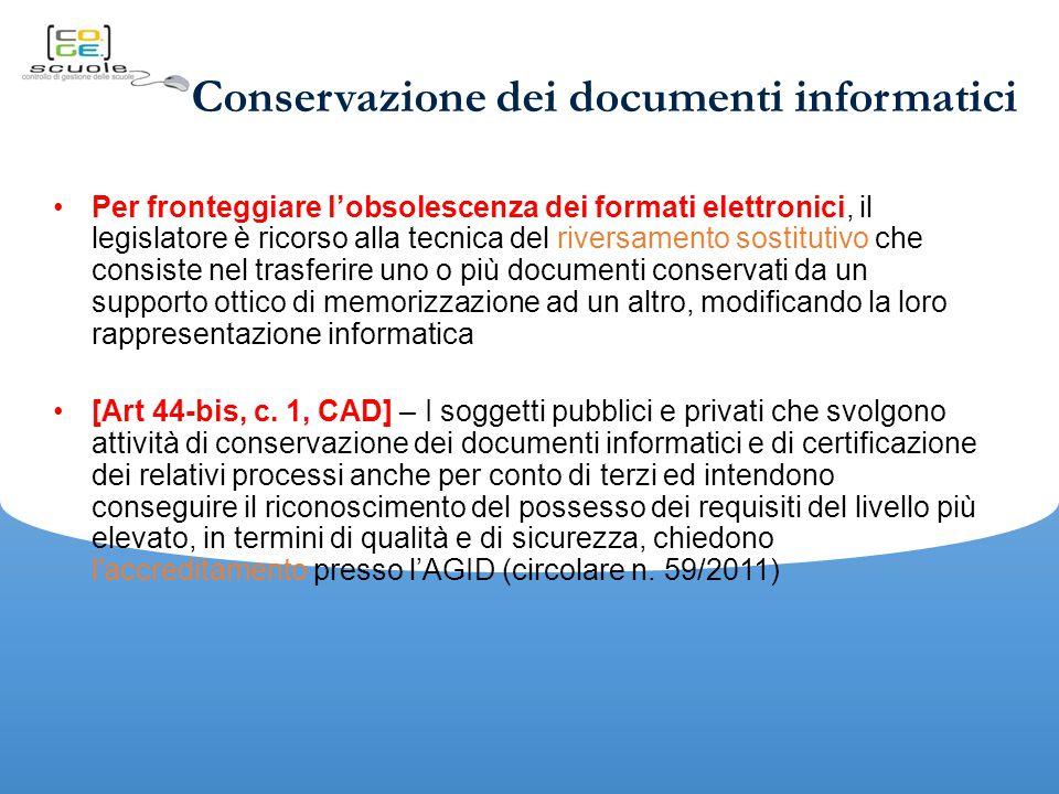 Conservazione dei documenti informatici