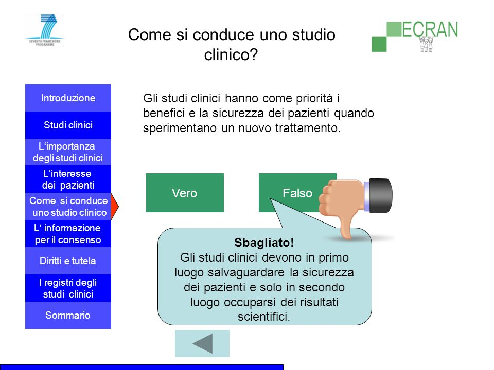 Come si conduce uno studio clinico