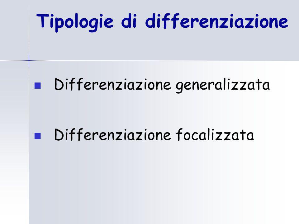 Tipologie di differenziazione
