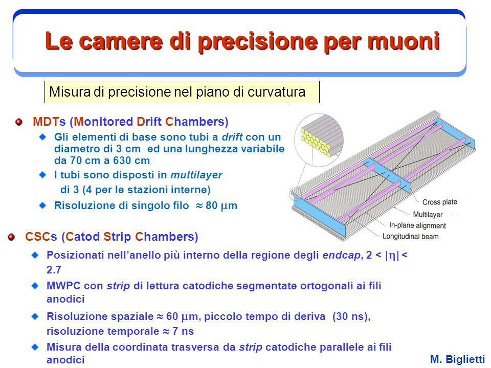 Le camere di precisione per muoni
