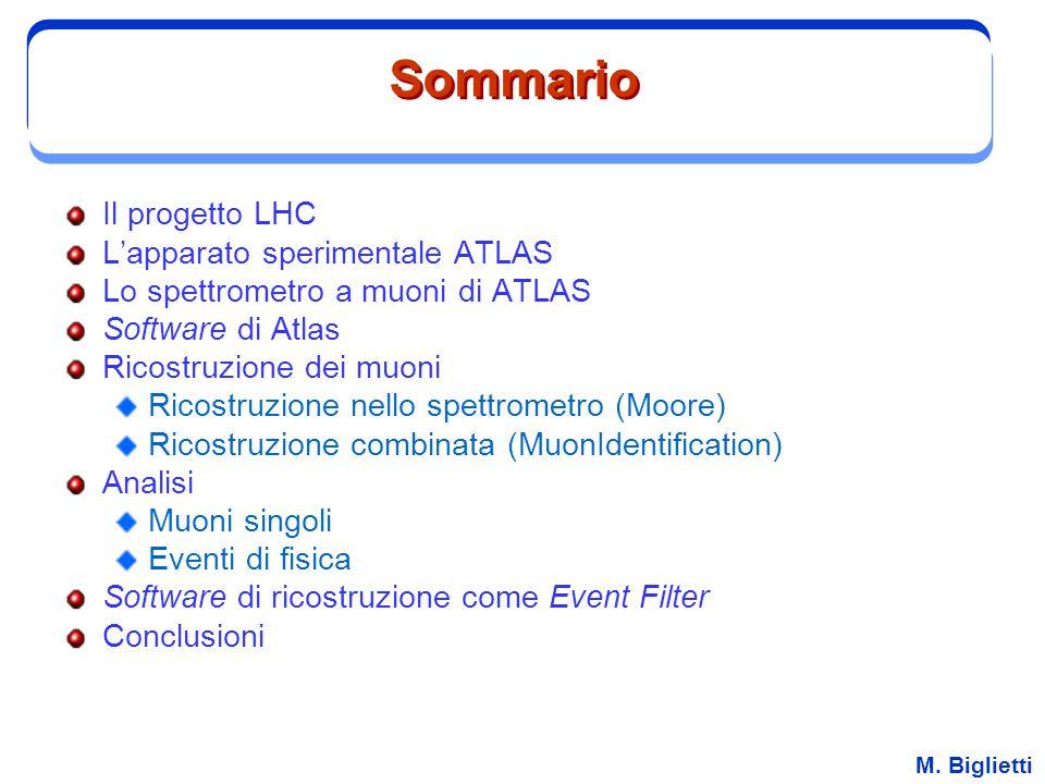 Sommario Il progetto LHC L'apparato sperimentale ATLAS