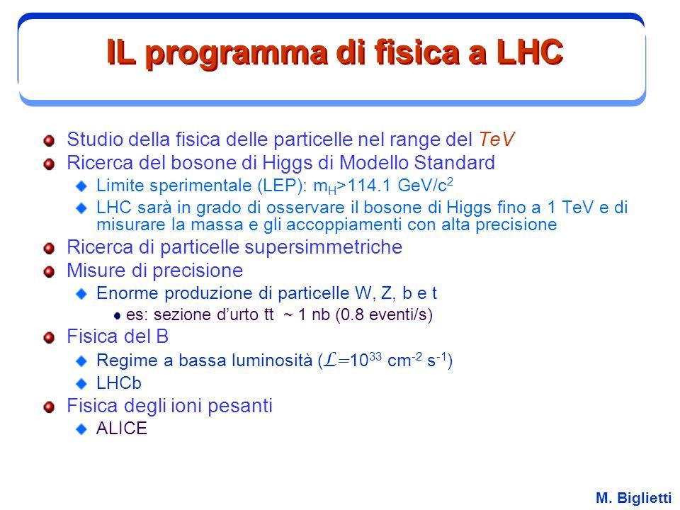 IL programma di fisica a LHC
