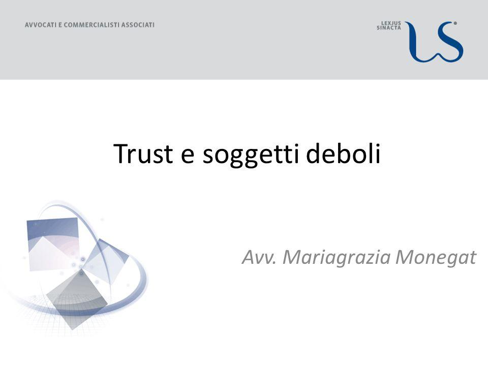 Trust e soggetti deboli