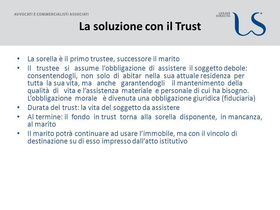 La soluzione con il Trust
