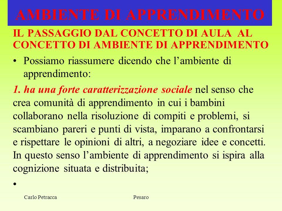 AMBIENTE DI APPRENDIMENTO