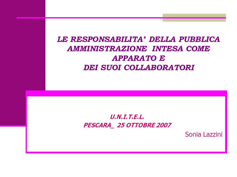 U.N.I.T.E.L. PESCARA_ 25 OTTOBRE 2007 Sonia Lazzini