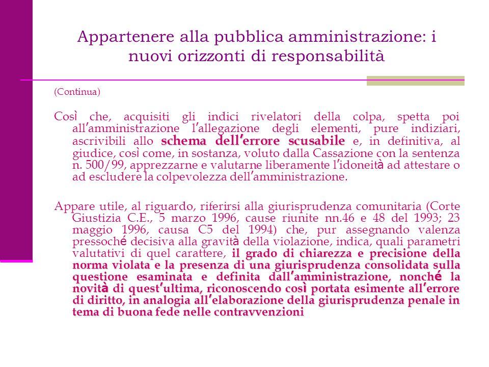 Appartenere alla pubblica amministrazione: i nuovi orizzonti di responsabilità