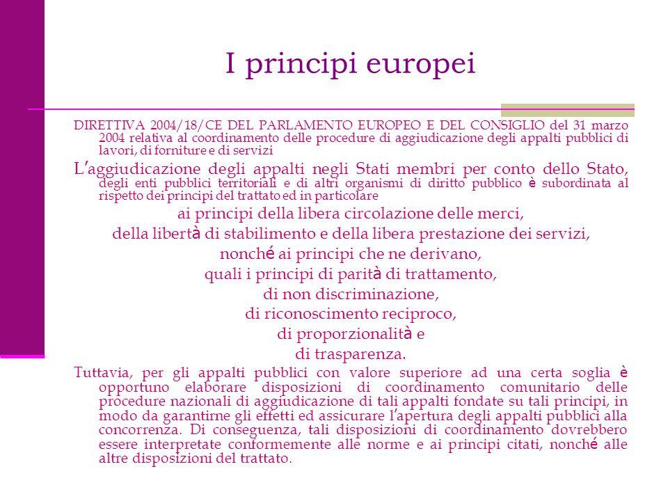 I principi europei