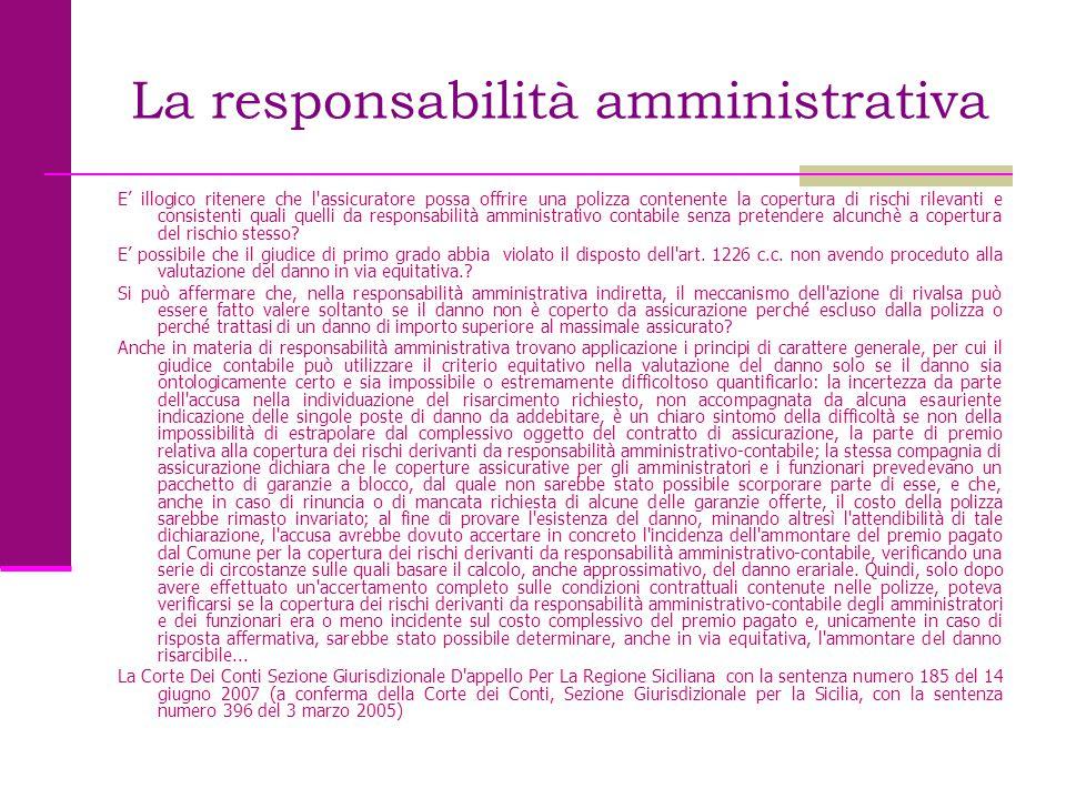 La responsabilità amministrativa