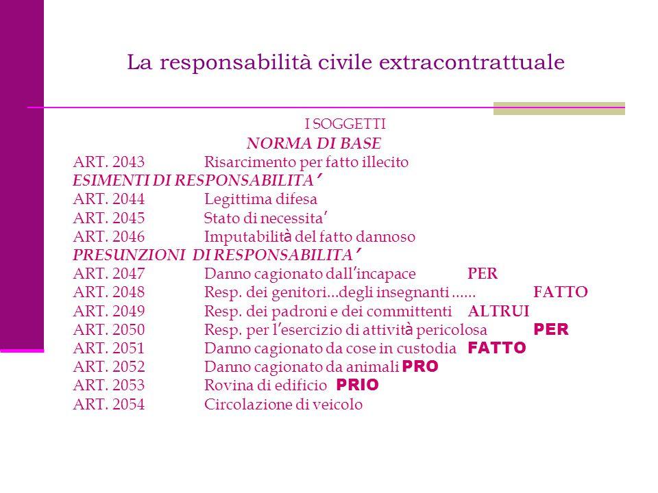 La responsabilità civile extracontrattuale
