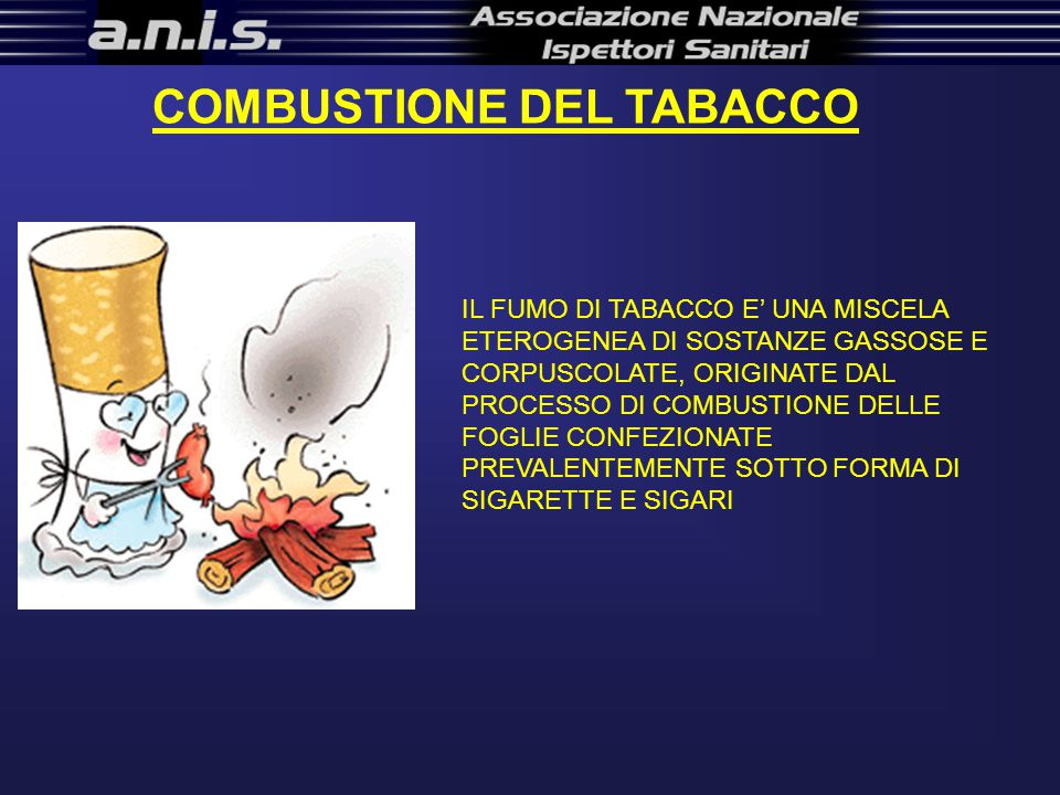 COMBUSTIONE DEL TABACCO