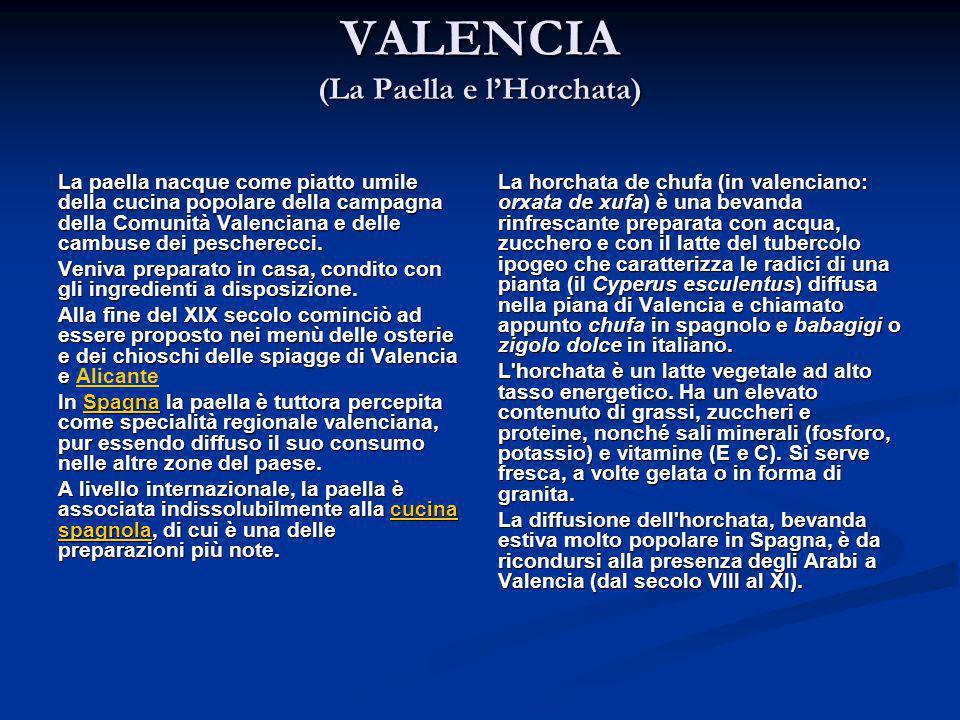 VALENCIA (La Paella e l'Horchata)