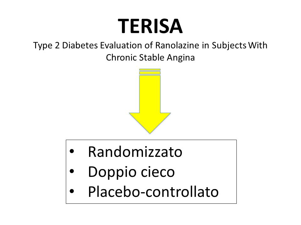 TERISA Type 2 Diabetes Evaluation of Ranolazine in Subjects With Chronic Stable Angina