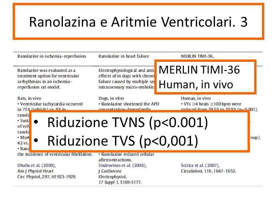 Ranolazina e Aritmie Ventricolari. 3