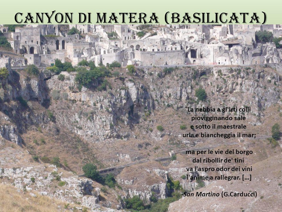 CANYON DI MATERA (BASILICATA)