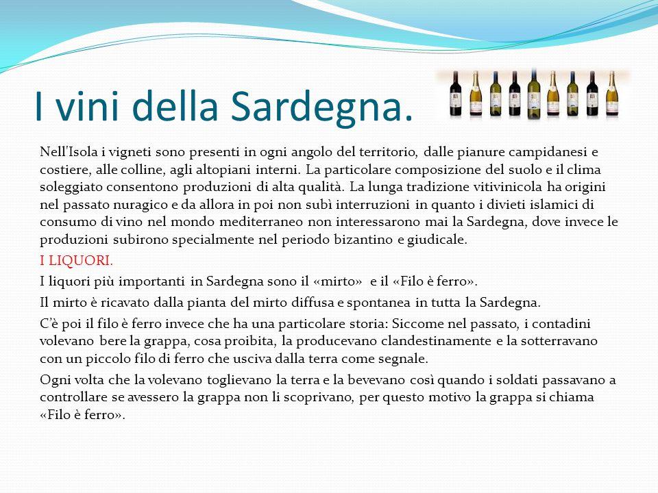 I vini della Sardegna.